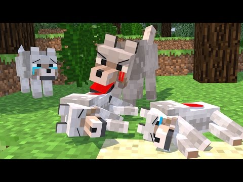 Thumbnail: Top 5 Minecraft Life (Minecraft Animation) Wolf Life - Silverfish Life - Squid Life - Fish Life