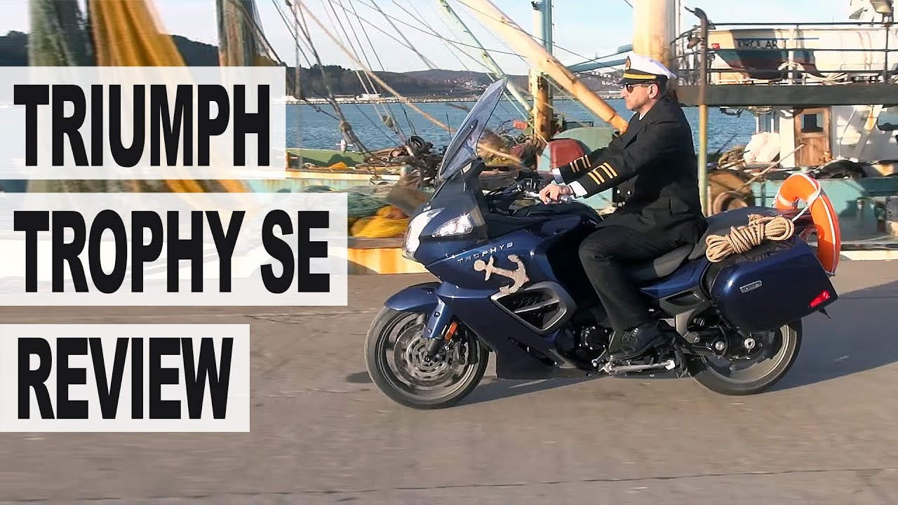 triumph trophy se motorcycle review - youtube