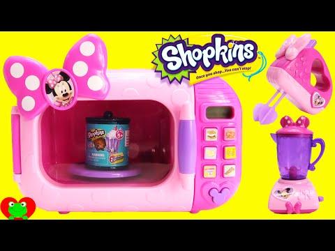 Minnie Mouse Marvelous Microwave with Shopkins Season 4 Food Fair Candy Jar