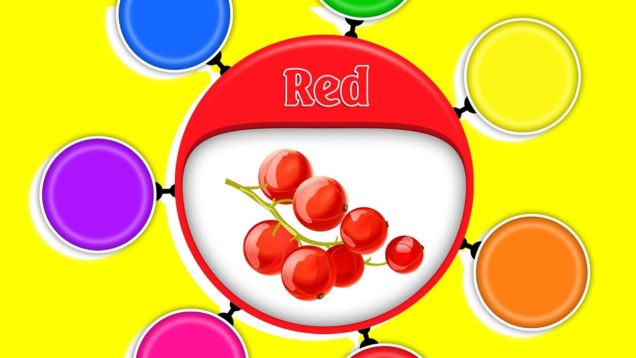 Colors for Children to Learn with Rotation Fruit #h ❤️ Colours Videos Collection for Children - YouTube
