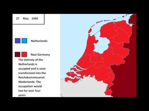 The invasion of the Netherlands 1940, every hour