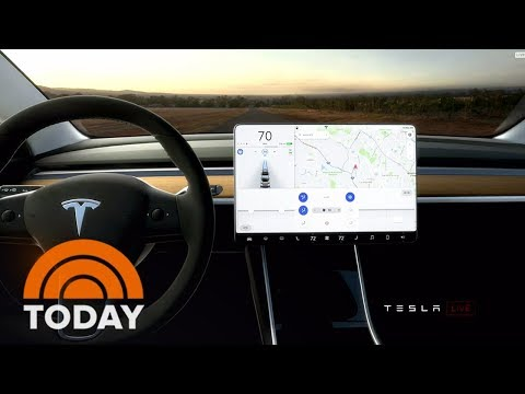 Thumbnail: Tesla Rolls Out First Model 3 Electric Cars For $35,000 | TODAY