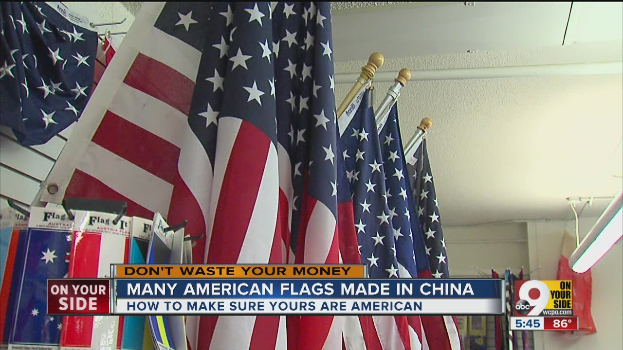 144d42acdb9 Many American flags made in China - YouTube
