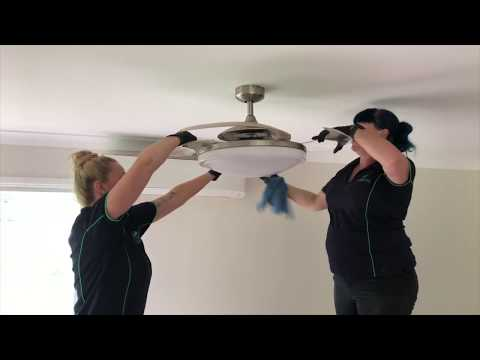How to clean a Retractable Blade Ceiling Fan