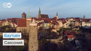 Баутцен   город башен  в Саксонии   #DailyDrone