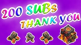 Clash of Clans | 200 SUB SPECIAL! THANK YOU GUYS | Best Bases + Friend's Giveaway | #066