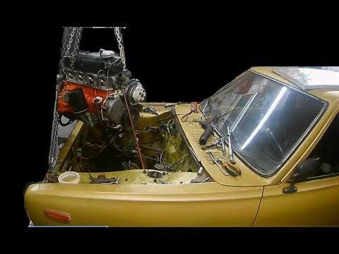 Moottorin Irrotus Datsunista - Datsun 100a Projekti / Osa 2