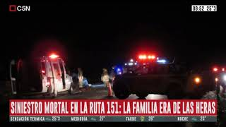 Accidente fatal en Río Negro