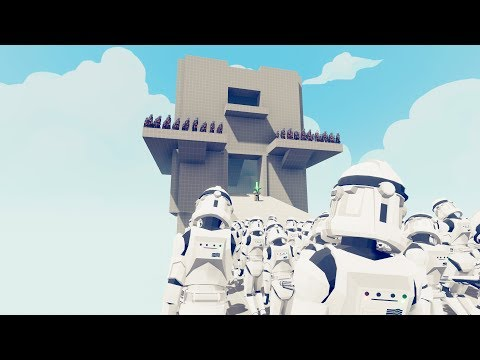 Star Wars Clones Vs Droids In TABS Army -  New Maps Test Totally Accurate Battle Simulator