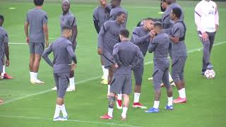 Messi, Neymar, Mbappe and PSG teammates train ahead of Club Brugge in UCL