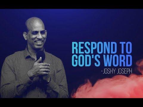 Malayalam Christian Message // Respond to God's word - Ps. Joshy Joseph