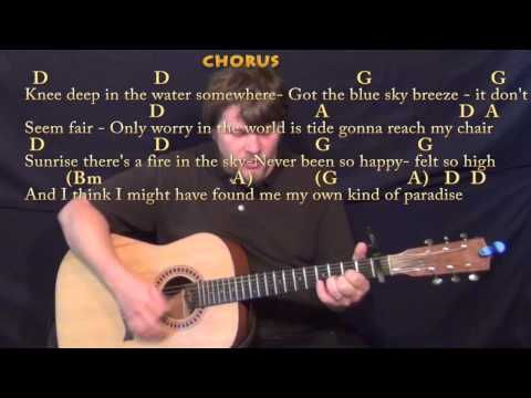Knee Deep (Zac Brown) Strum Guitar Cover Lesson with Chords/Lyrics - Capo 1st