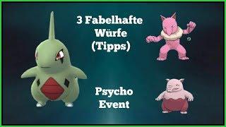 Pokemon Go - Fabelhafte Würfe (3 hintereinander; Tipps), Psycho-Event + Fitnesswochen!?