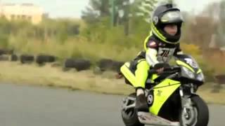 Two year old motorcycle racer!   People are Awesome 2016