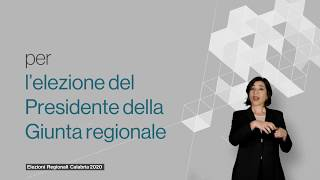 Elezioni Regionali Calabria - 26 gennaio 2020 - Come si vota