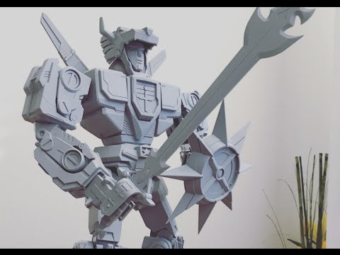 Massive 3D Printed Transforming Voltron Action Figure