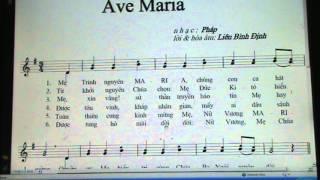 801 . AVE MARIA ( NHAC PHAP/ LIEN BINH DINH )