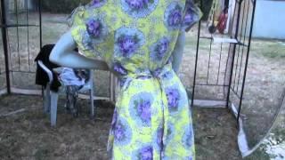 Dirndl Waitree Apron Wrap Dress MSFIRECRACKER