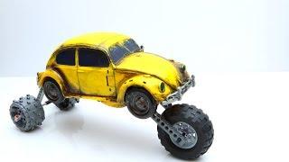 LEGO experemental Cars! Transformers Bumblebee vs Optimus Prime toys!