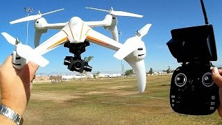 WLToys Q696-A 2 Axis Gimbal FPV Telemetry 1080p Camera Drone Flight Test Review