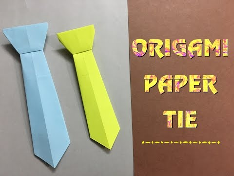 How To Make A Paper Neck-tie / Easy craft tutorial for beginners (HD)