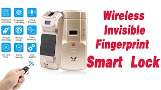 WAFU Wireless Smart Invisible Fingerprint Remote Lock