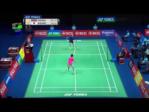 SCG Thailand Open 2016 | Badminton SF M2-MS | Tanongsak Saensomboonsuk vs Kenta Nishimoto