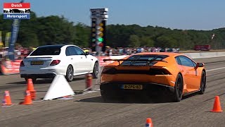 The best Supercar Drag Races at GTC Rally Festival 2018 at Breda In...
