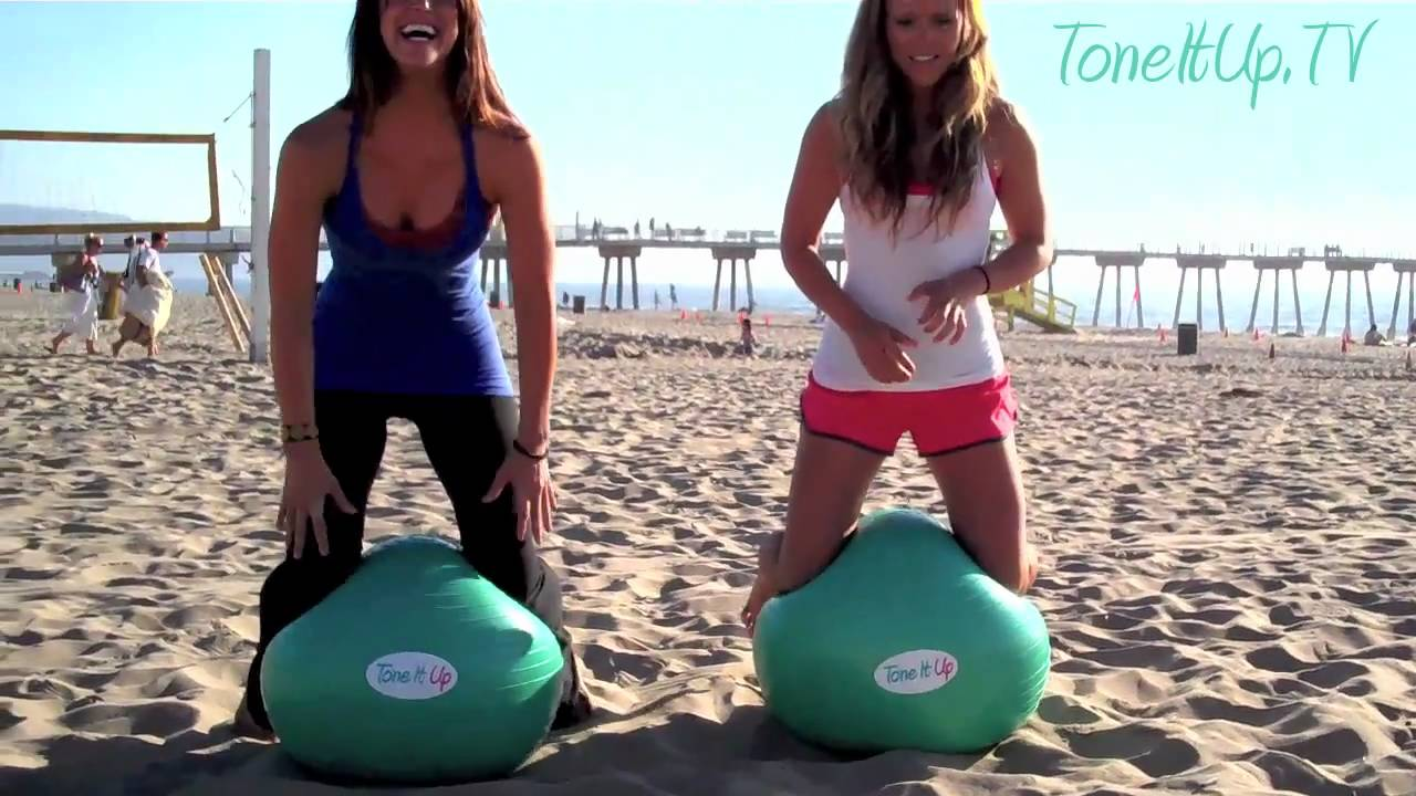 image about Printable Exercise Ball Workouts called Ball Exercise toward Slender the Waistline Tone Up the Interior Thighs!
