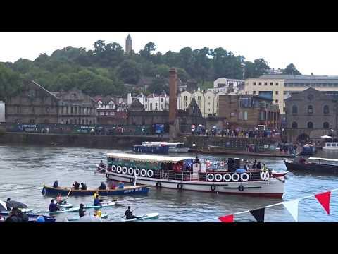 Bristol Ensemble on a flotilla for the finale of Bristol Harbour Festival