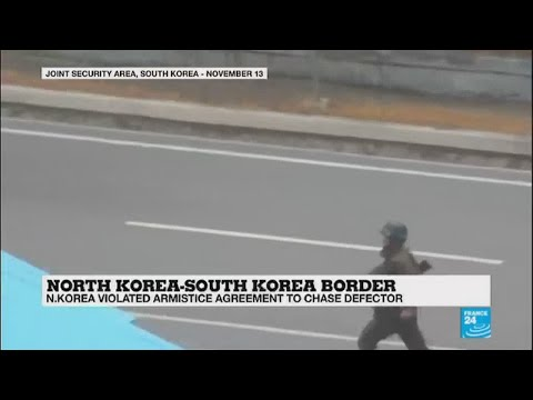 Video show North Korean soldiers violating armistice agreement to chase defector