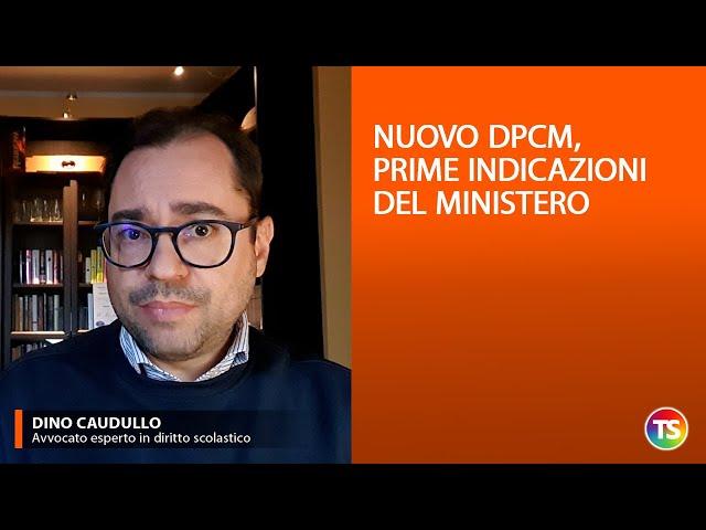 Nuovo DPCM, prime indicazioni del Ministero