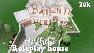 Aesthetic roleplay house (includes the new baby update) - Bloxburg speedbuild