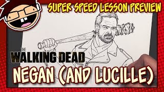 Lesson Preview: How to Draw NEGAN and LUCILLE (The Walking Dead) | Super Speed Time Lapse Art