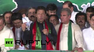 Pakistan: Watch Imran Khan burn electricity bill in protest thousands strong