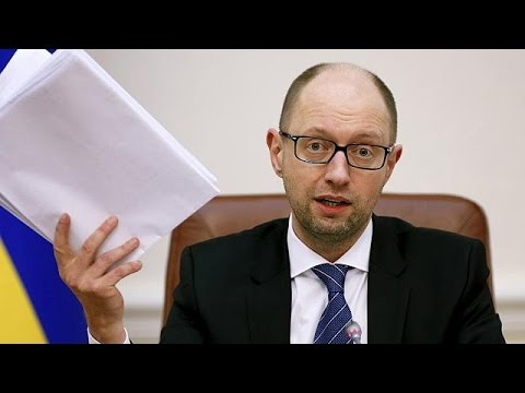 Ukraine's prime minister resigns in televised address