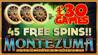 £30 HIGH ROLLER GAMES with 45 FREE SPINS!! Montezuma