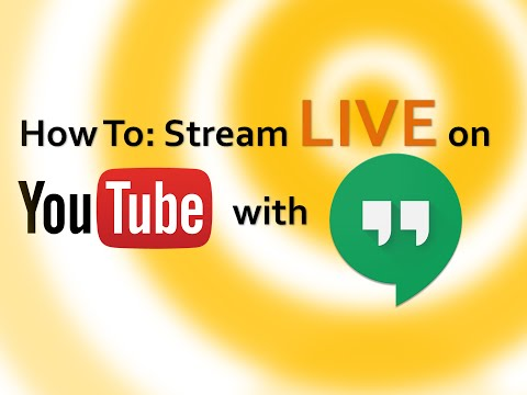 How to live-stream on YouTube using Google hangouts