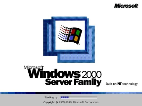 Windows 2000 startup and shutdown youtube.