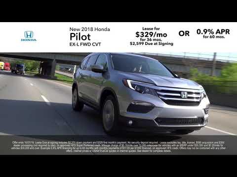 New Honda 2018 & 2019 Pilot, Civic, & Odyssey Lease and APR Specials! VA MD