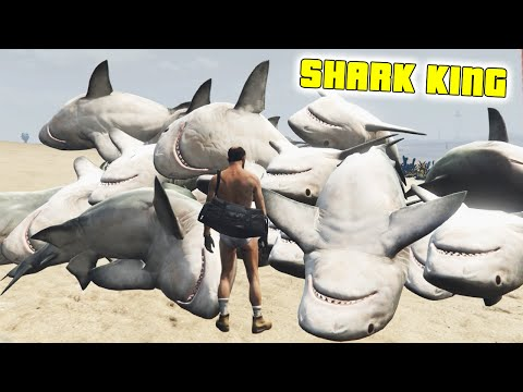 Download] GTA 5 Mods NO WATER TSUNAMI MODS SHARK KING GTA V PC Fun ...