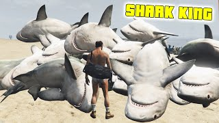 GTA 5 Mods - NO WATER + TSUNAMI MODS! - (SHARK KING) - (GTA V PC - Fun With Mods)