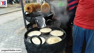 How to Ghevar Making Dry fruit Loaded Shahi Ghevar   Indian Street Food   ghevar kaise banate hain