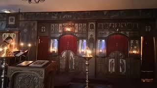 5 апреля 2020 г. Париж, Трехсвятительский храм. Литургия свт. Василия Великого при закрытых дверях