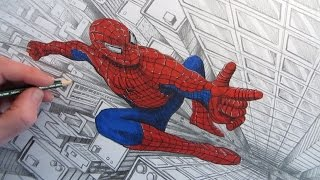 How to Draw Spider-Man above a City: Narrated