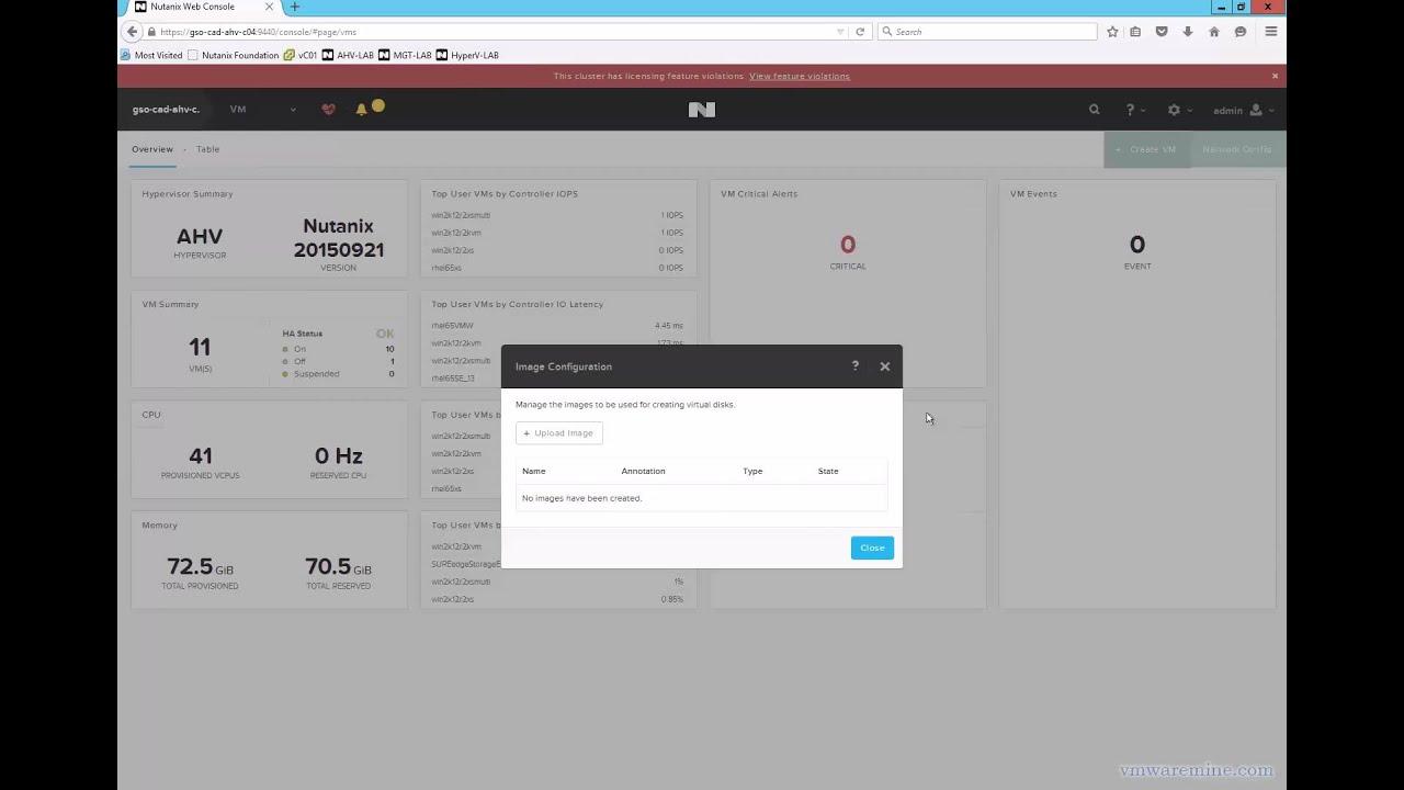 Nutanix Acropolis - create RHEL 7 0 VM from qcow2 image - VMwaremine