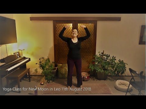 Yoga Class for New Moon in Leo 11th August 2018