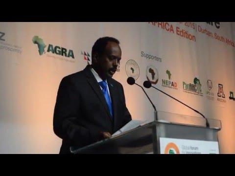 Former Somalia Prime Minister Mohammed Abdulahi Farmajo at GFIA -Africa