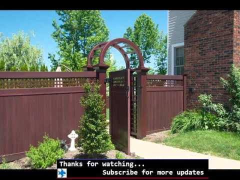 Vinyl Fencing That Looks Like Wood | Fences & Gates Design For Outdoor