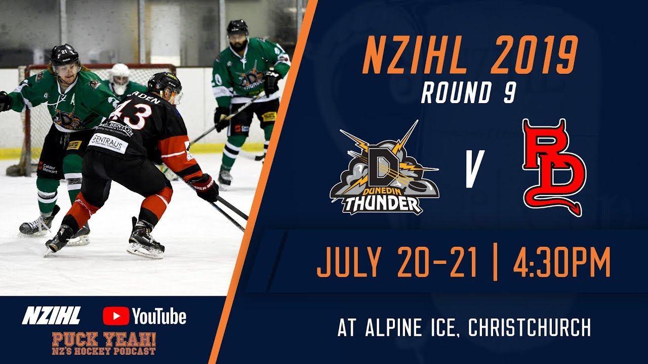 Nzihl 2019 Round 9 Dunedin Thunder V Canterbury Red Devils July